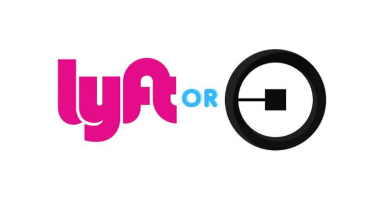 picture of lyft and uber logo for article called should i drive for lyft or should i drive for uber.